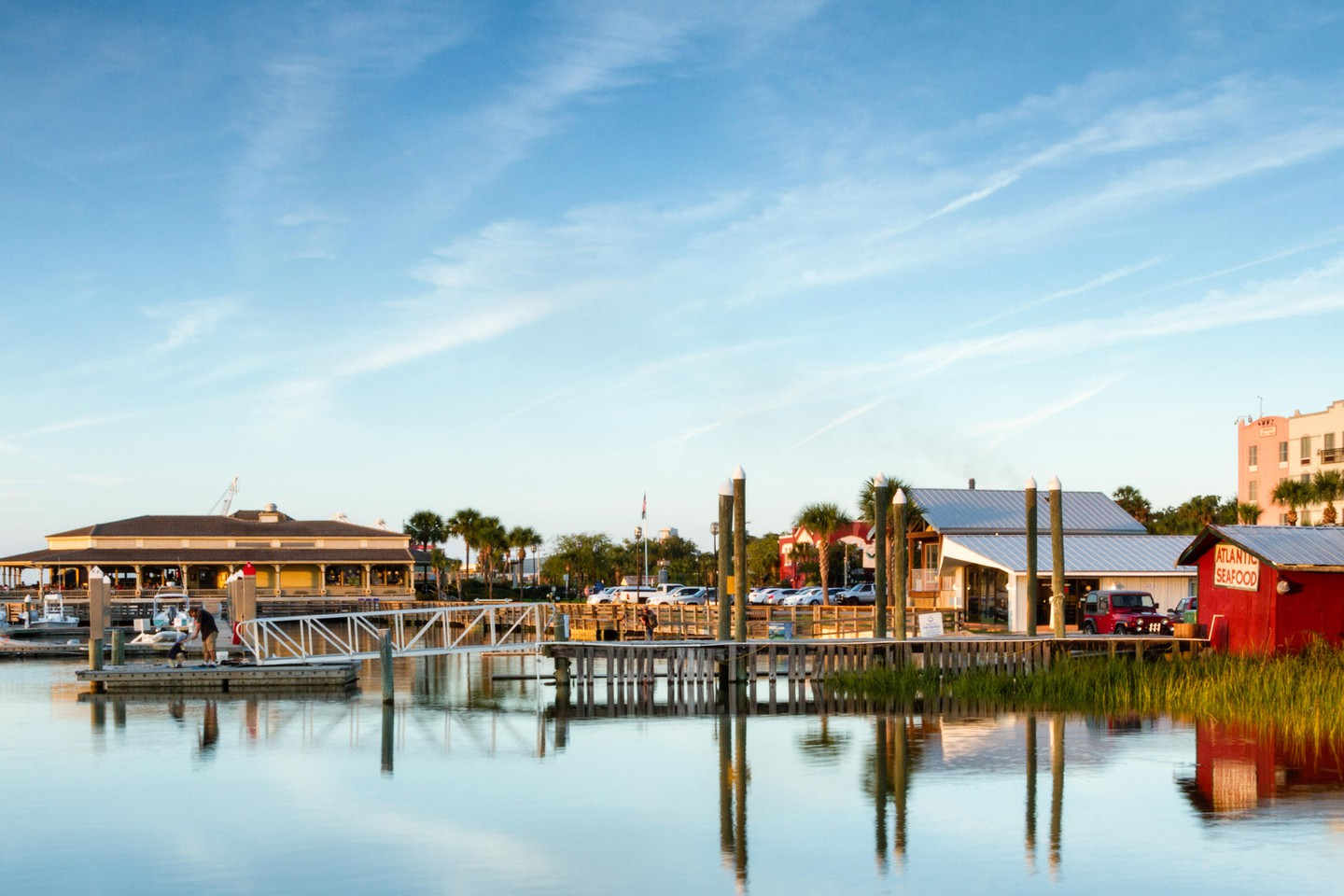 View of Fernandina Beach Marina, Amelia Island, Florida
